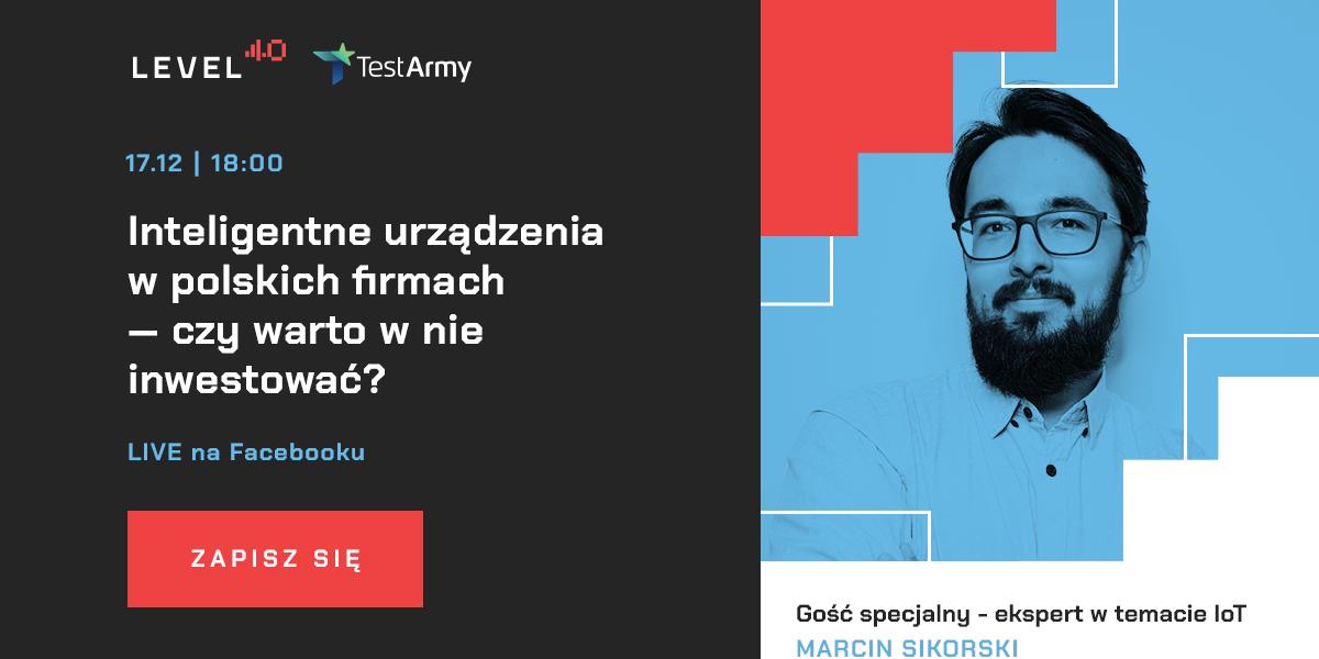Live na Facebooku Marcin Sikorski